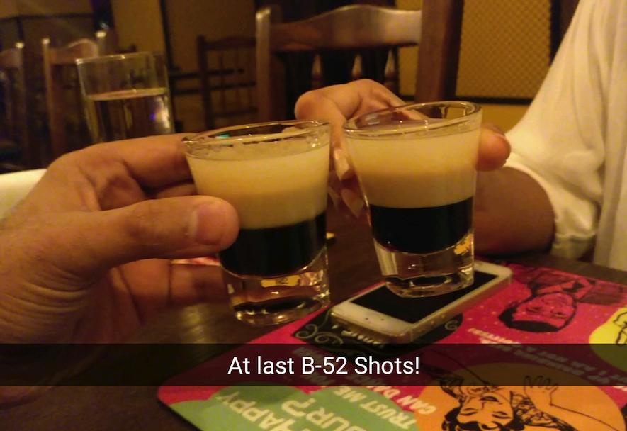 B-52 Shots at Q Bar Mumbai
