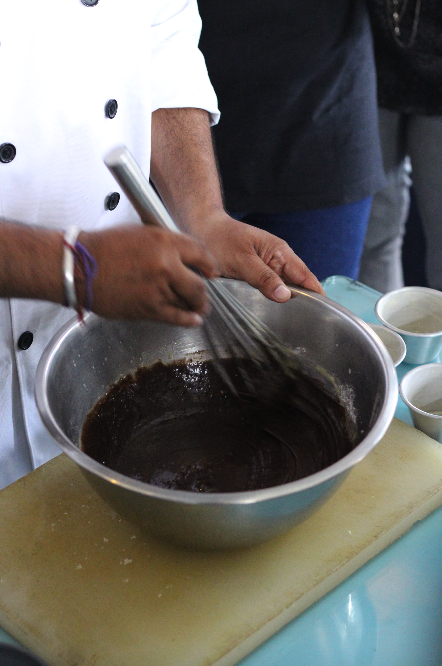 Choco Eruption in the making at Cafe Hinglish