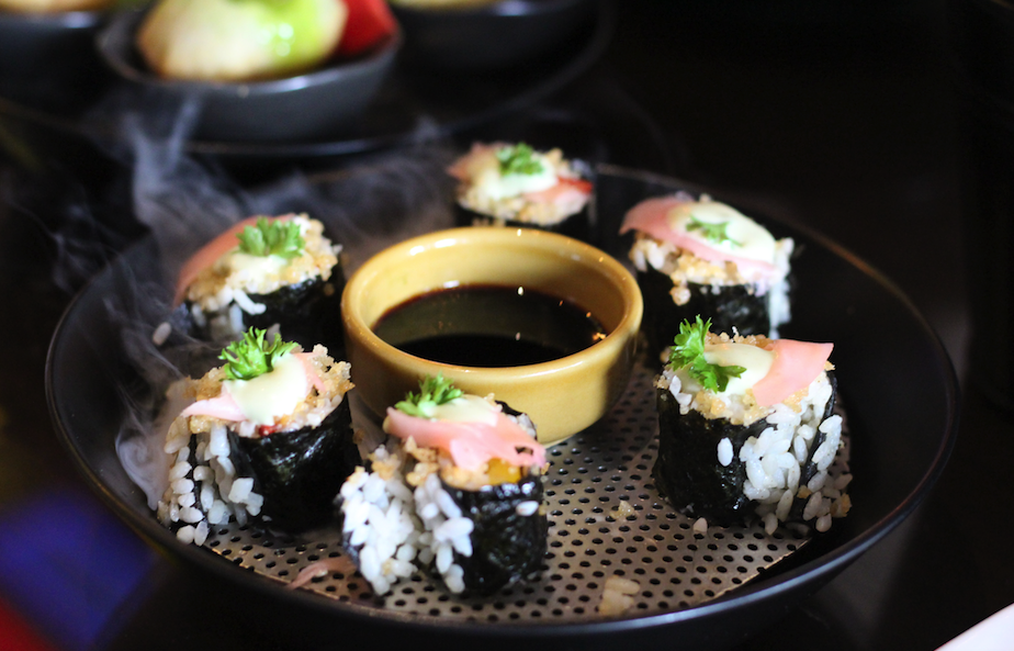 Sushi rolls at The Addams House