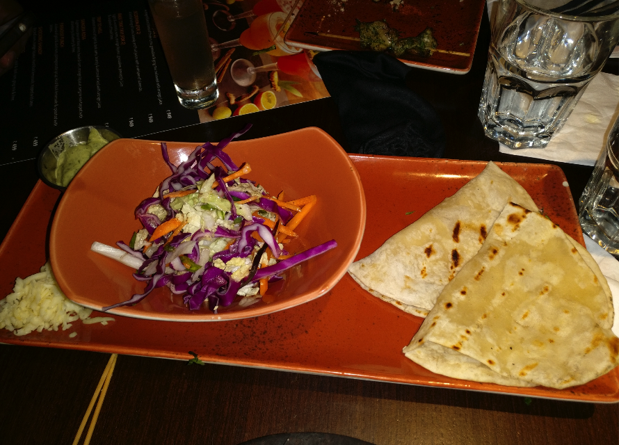 All Sizzlers are served with Naan Bread, Sesame Slaw and Shredded Cheese.