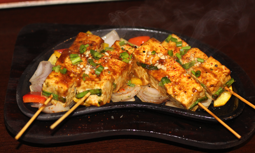 Satay Cottage Cheese Sizzlers